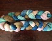 Dyed merino combed top, hand painted merino roving, hand painted merino wool