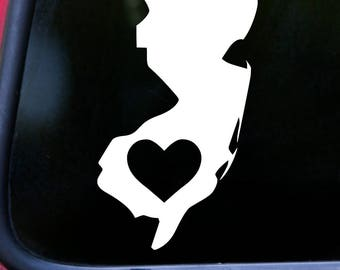 "New Jersey HEART State Vinyl Decal Sticker 6"" x 3.25"" Love NJ *Free Shipping*"