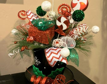 Snowman Fun, Christmas Centerpiece, Christmas Decor, Holiday Decor, Christmas Candy