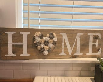 home sign rustic wall decor love sign shabby chic home decor rustic