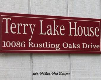 Lake Address Sign, Lake House Decor, Lake House Sign, Lake Sign, Lake Decor, Lake House, Custom Lake House Sign Personalized Lake House Sign