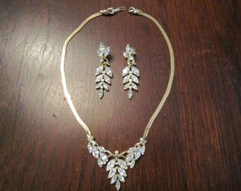 Kunio Matsumoto for Trifari Necklace and Earrings