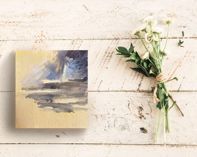 "Fine Art Painting | Rustic Painting | Raw Wood | Handmade Painting | Nature Painting | Small Art | 6""x6"" Painting ""Nel Vuoto"""