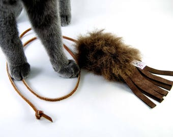 Unique Cat Teaser Toy, Catnip Toy, Silvervine Cat Toy, Rattle Cat Toy Options, Fringe Teaser Toy
