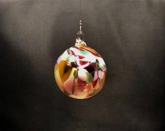 Hand Blown Glass Christmas Ornament (Color Name: Dream Big)