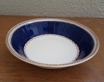 Vintage Small Blue Melrose Grindley England Bowl