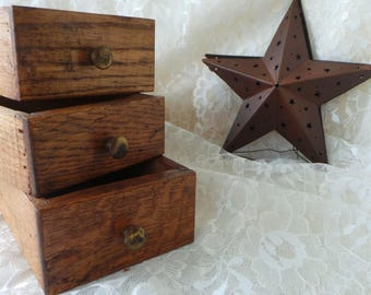 Vintage Wood Drawer, Antique Wood Drawer, Rustic Drawer, Industrial Drawer, Rustic Wood, Wood Drawer, Assemblage Drawer, Craft Drawer, Crate