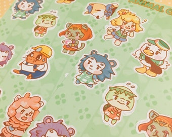 Sticker Sheet - Animal Crossing New Leaf Mix 1
