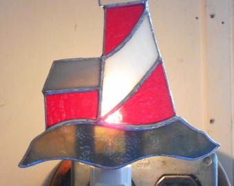 Stained Glass Lighthouse Night Light - Handcrafted in Tennessee