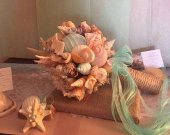 Xo bouquets big seashell bouquet ready to ship