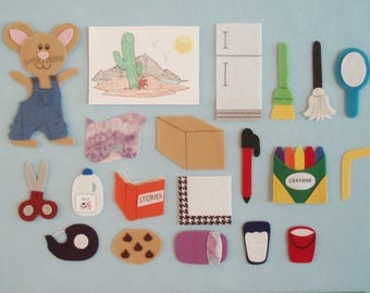 If You Give a Mouse a Cookie Felt Board Story/Felt Board Stories/Flannelboard Stories/Teaching Resource/Early Childhood Education/Daycare