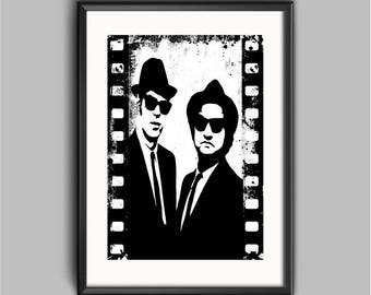 Blues Brothers  Poster Art Print Giclee 8x10 A4 A3 Vintage Movies wall art prints