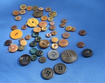 Lot Of Assorted Vintage Plastic Buttons