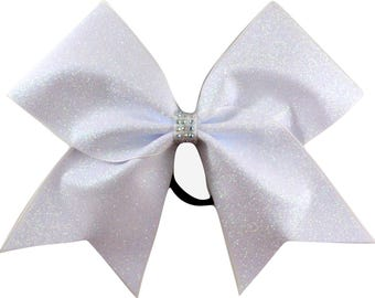 Arctic Shimmer White Cheer Bow