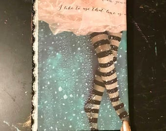Bubbles and Stripes in Paradise Handmade Scrapbook Journal