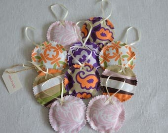 Lavender bag prints circle set 10pcs Sachet aroma moths mix color orange purple brown pink