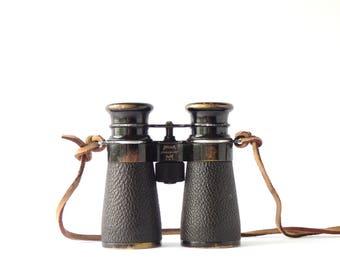 Antique Binoculars Busch Camponett 4x40 Germany WWII Emil Busch A.G. Rathenow Camponett DRP Collectible Military Field Gear