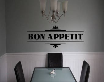 EVERYTHING IS 20% OFF Bon Appetit Wall Decal