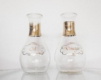Vintage Pyrex Glass Oil & Vinegar Set