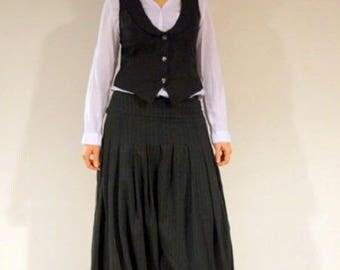Sarouel one thousand overnight classy black white stripe, size customizable.