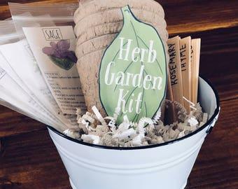 Beginner Herb Garden Kit, Valentine Gift for Children, Container Garden, Windowsill Garden, Nature Study, Plant Study Activity