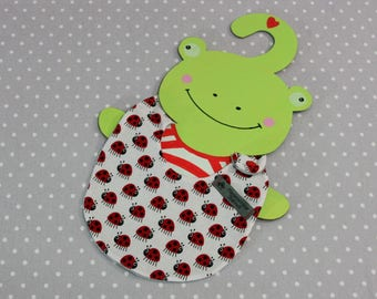 Ladybug handmade baby bib