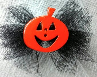 Cynthia Dog Bows- Halloween Jack O'Lantern Big Boutique