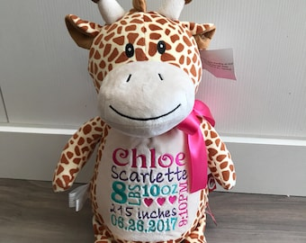 "Cubbies Embroidered Giraffe ""Tumbleberry"""