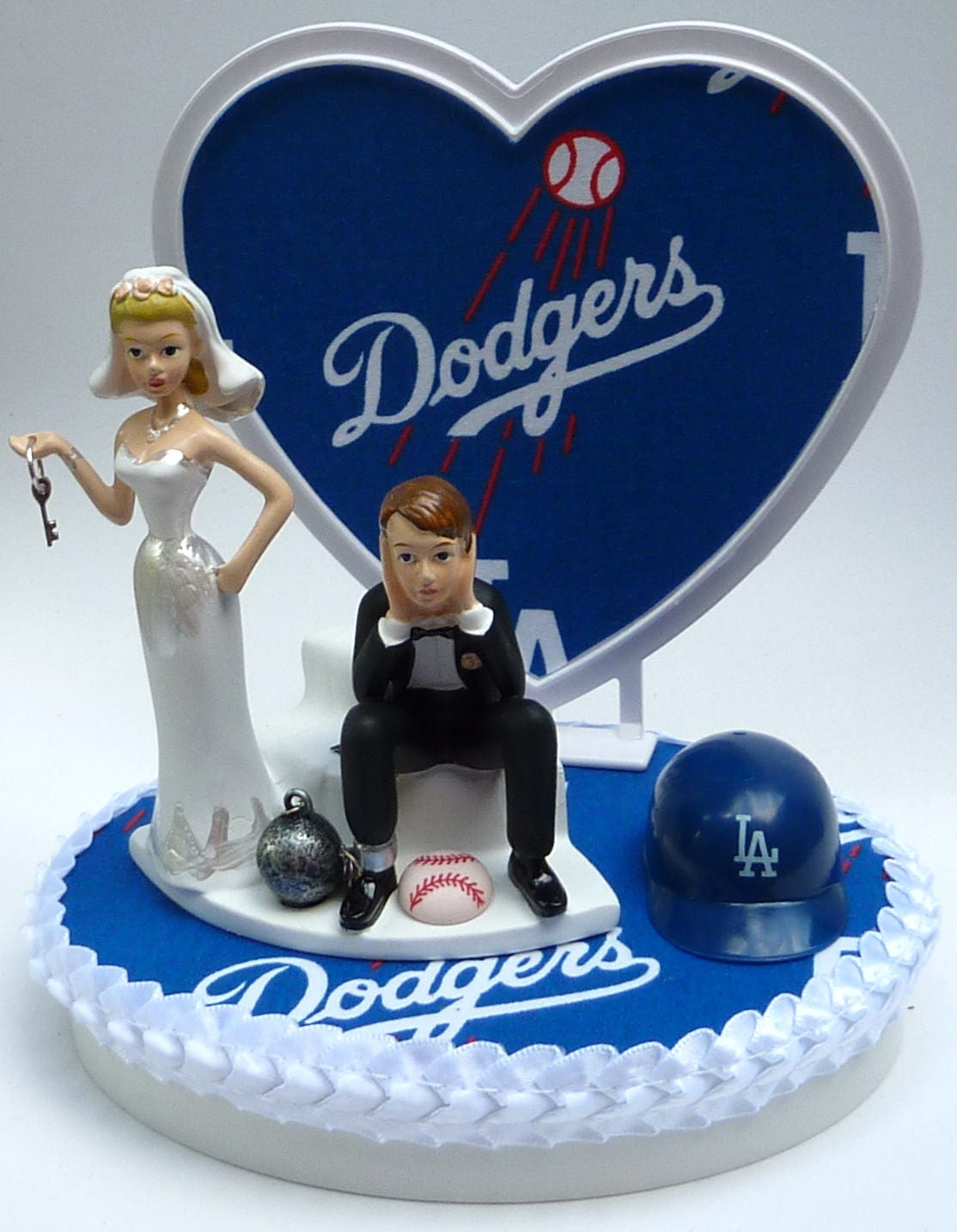 angels baseball wedding cake topper wedding cake topper los angeles dodgers la baseball themed 10763
