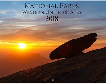 2018 National Parks Western US Wall Calendar