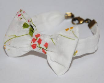 Bracelet knot 78 white/multicolor floral pattern