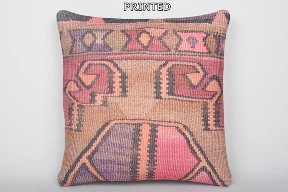 Turkish cushion 24x24 throw pillow kilim pillow case
