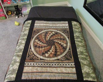 Brown Geometric Quilt