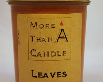 8 oz Leaves Soy Candle