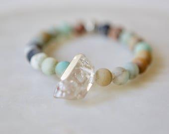 Amazonite Bracelet, Crystal Bracelet, Unisex Bracelet, Yoga Bracelet, Meditation Bracelet