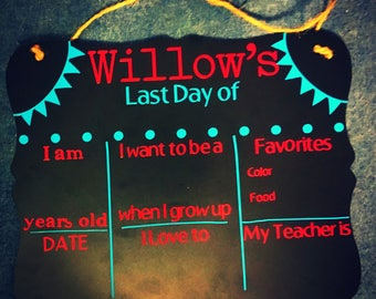 First Day/Last Day of School Chalkboards