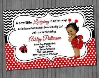 FLASH SALE Little Ladybug Baby Shower Invitations