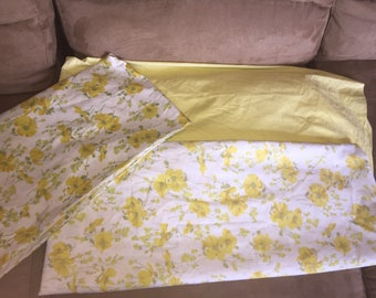 Vintage Yellow Floral Twin Set