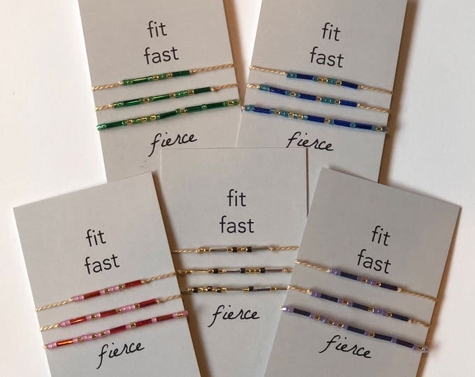 Words to Run By: Fit Fast Fierce