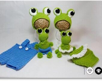 Baby boy prop Baby girl prop Animal prop Frog prop Crochet prop Crochet frog toy Newborn Prop photography prop Frog hat Crochet Animal hat