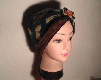 Chemo Hat reversible stretch woman, girl for the winter