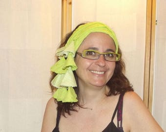 Le bandeau quatre en un vert anis
