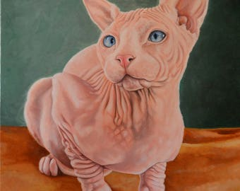 Custom Pet Portrait Oil Painting on Canvas 16x20
