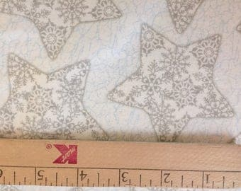 Flannel winter snowflake quilting sewing fabric    1-1/2 yards