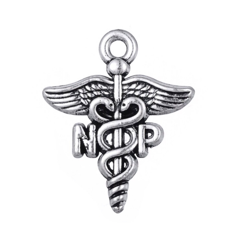 Five 5 np caduceus charms nurse practitioner charms details 5 np biocorpaavc