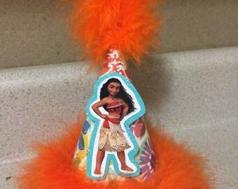moana Hawaiian print party hat party supplies