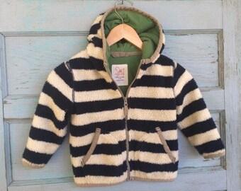 Vintage MINI BODEN fleece hoodie toddler 2/3