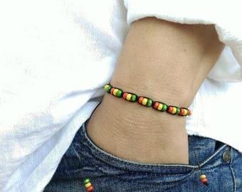 Mens Bracelet Perle Homme Men Bracelete 4 mm SANDALWOOD  SHAMBALLA BRACELET Gemstone Bracelet Beaded Ganja Rasta Shamballa Bracelet