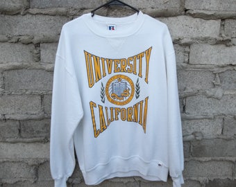 Vintage Sweatshirt UCSD 1980s 90s La Jolla University of California Medium Unisex Preppy Surfer College Skater School Everyday Casual Street