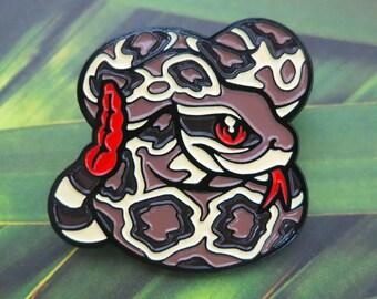 Diamondback Rattlesnake Enamel Pin - Danger Noodles